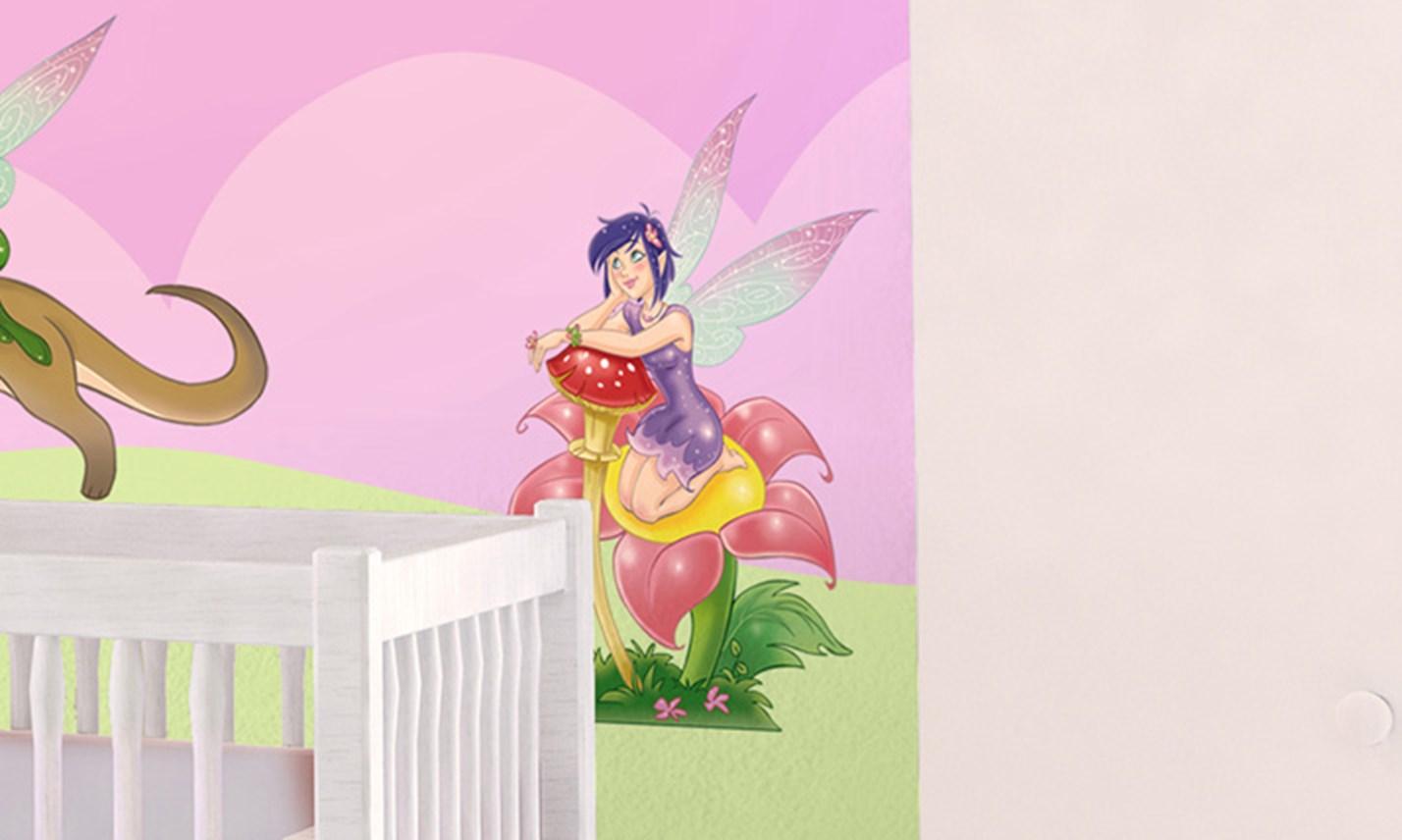 Stickers murali bambini cameretta le fatine leostickers - Decorazioni murali per camerette bambini ...